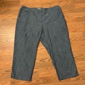 Talbots Chambray (denim-like) Cropped Pants